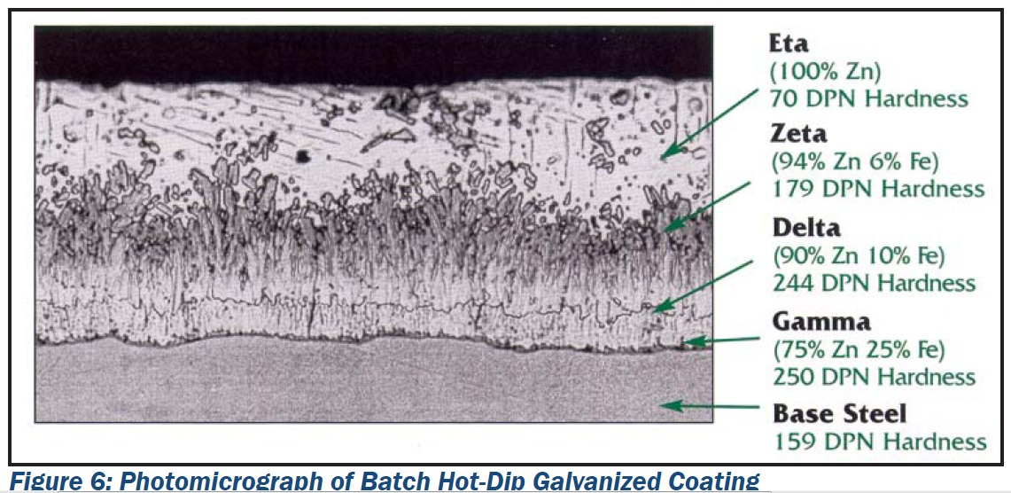 Micrograph of Hot-Dip Galvanized Steel