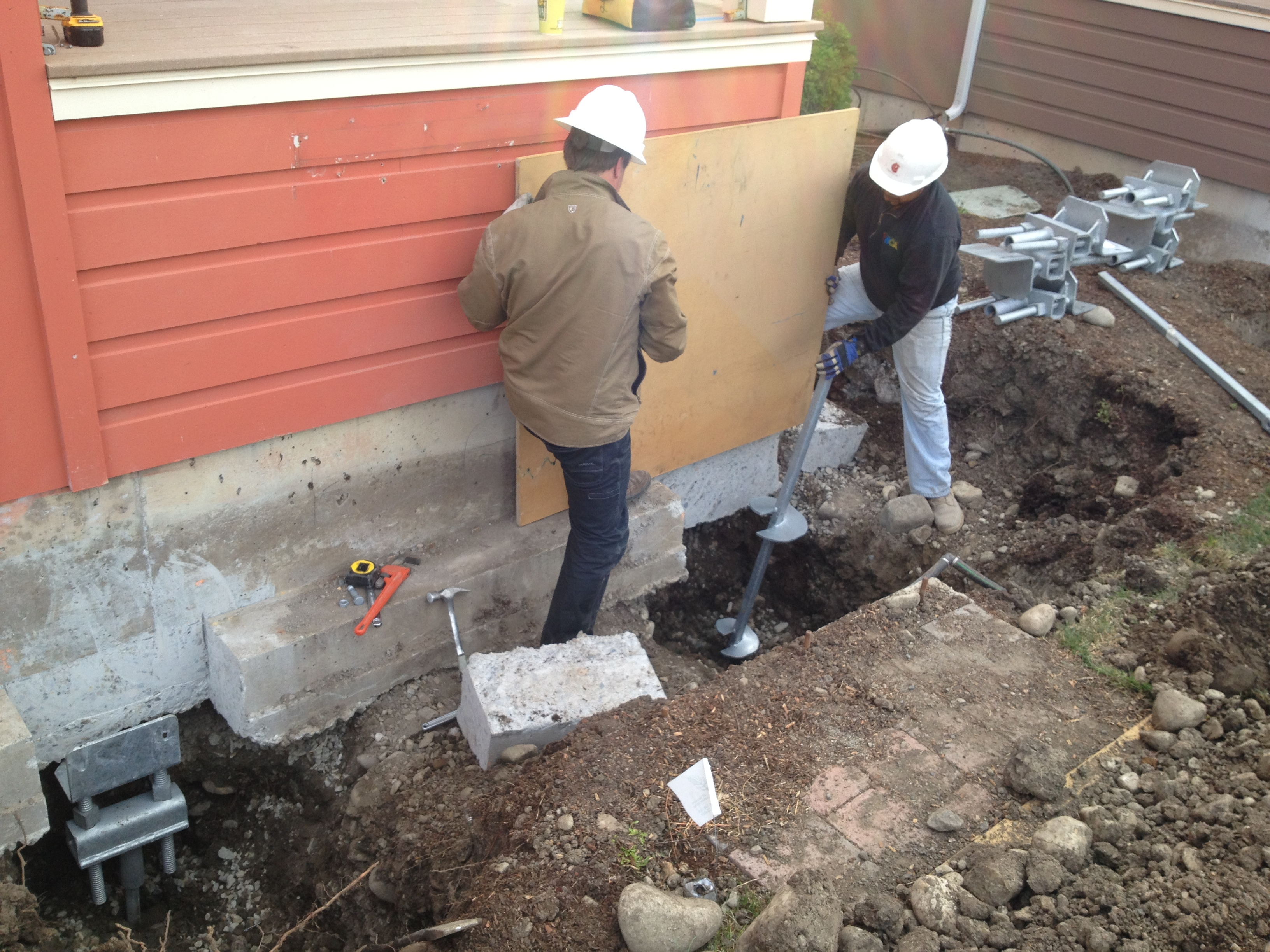 Concrete Basement Foundation Repair Chance Helical Pier